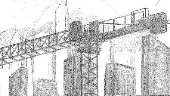 storyboard kran und Skyline