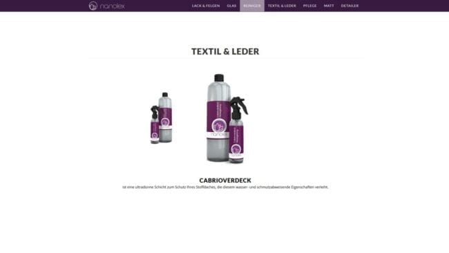 Nanolex-Website