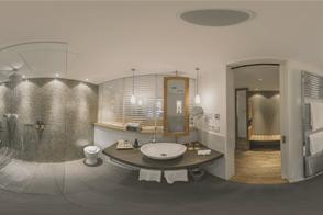 Hotel LaMaison - 360 Grad-Aufnahme Badezimmer