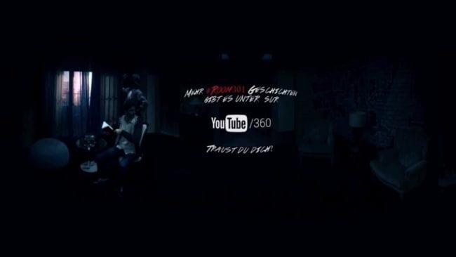 Dunkler Raum in 360°