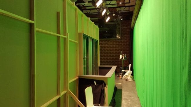 horror_360 Set green screen