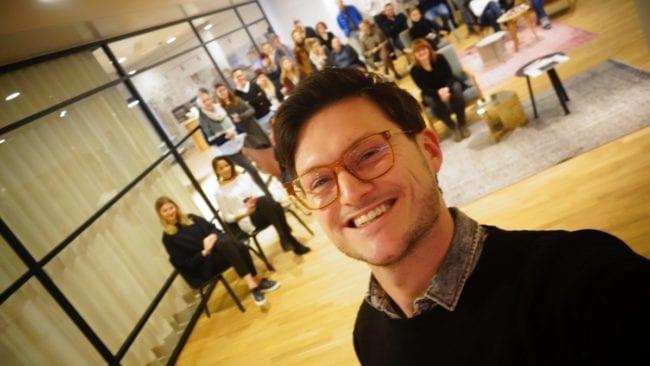 Virtual-Reality_Workshop Daniel Guthor und Teilnehmer