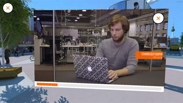 Virtual-Reality-App Zalado Mitarbeiter