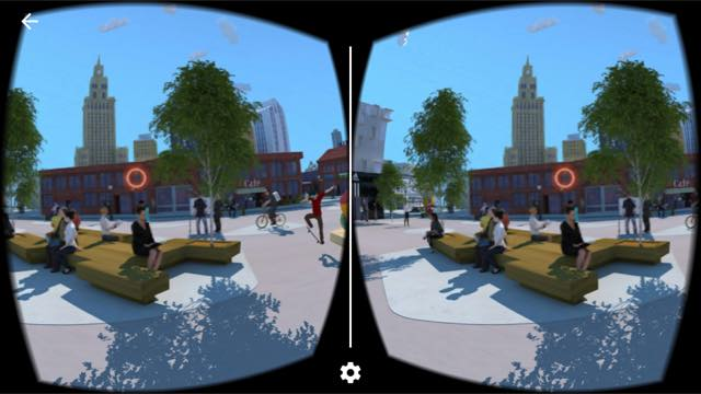 Virtual-Reality-App Stadt