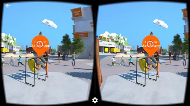 Virtual-Reality-App Kleidung