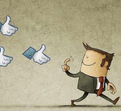 Facebook-Likes kommen angeflogen
