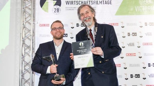 """aspekteins gewinnt victoria award für """"sweet-kitchen-360° fabrik tour"""" bei den internationalen wirtschaftsfilmtagen"""