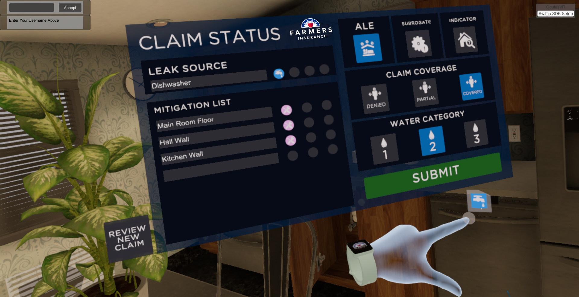 VR-Schulung Farmers Insurance