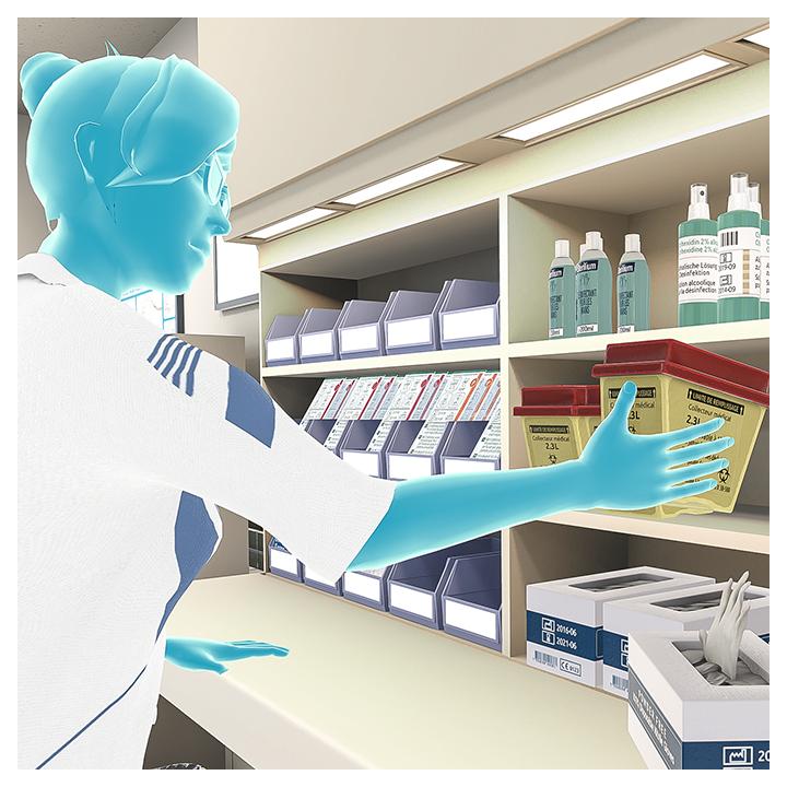 UbiSim über eine VR-Brille simuliert: Maßnahmen im Rahmen einer Blutentnahme