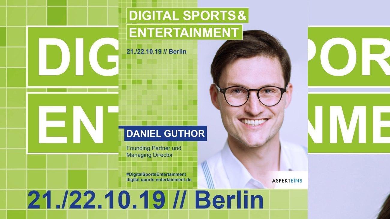 Daniel Guthor Aspekteins DSE 2019 Speaker